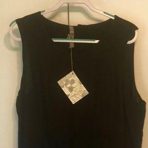 FLAX NWT Sleeveless Dress, Sz L, Black